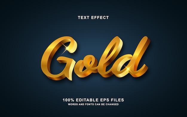 Efeito de estilo de texto moderno de ouro