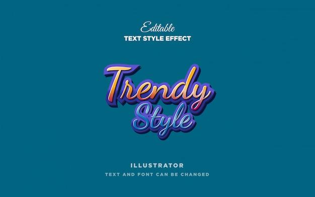 Efeito de estilo de texto na moda