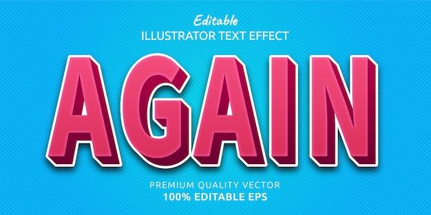 Efeito de estilo de texto novamente editável