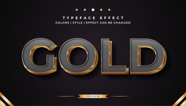 Efeito de estilo de texto platina e dourado