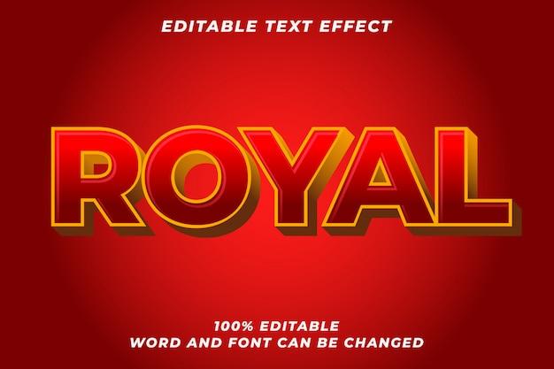 Efeito de estilo de texto real vermelho