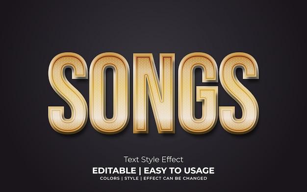 Efeito de estilo de texto realista dourado