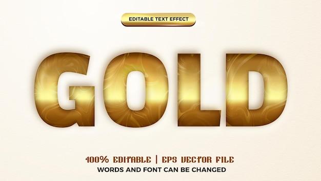 Efeito de estilo de texto recortado em ouro editável