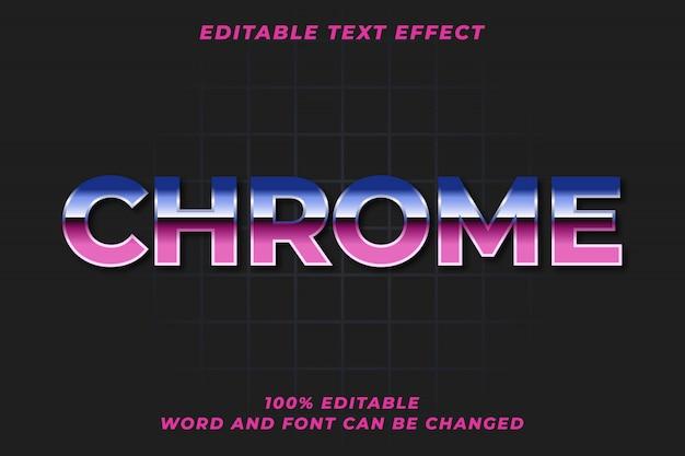 Efeito de estilo de texto retrô do chrome