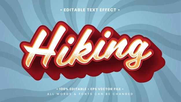Efeito de estilo de texto retro vintage caminhadas 3d. estilo de texto editável do ilustrador.