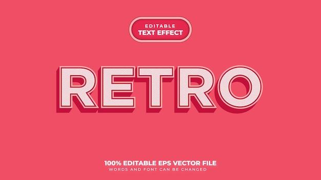 Efeito de estilo de texto retro Vetor Premium