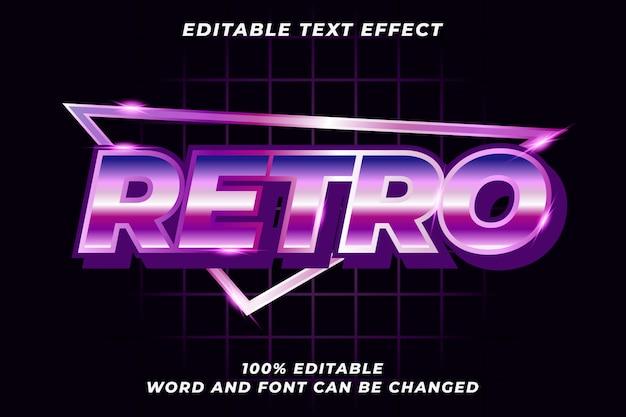 Efeito de estilo de texto retrô