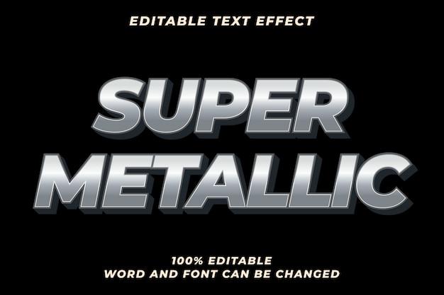 Efeito de estilo de texto super metal premium