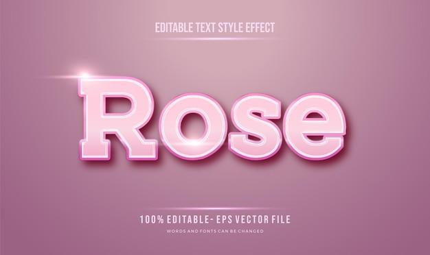 Efeito de estilo de texto tema feminino pinky rose. Vetor Premium