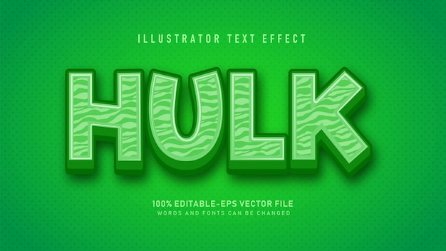 Efeito de estilo de texto verde hulk