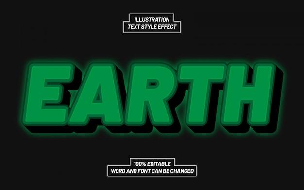 Efeito de estilo de texto verde terrestre