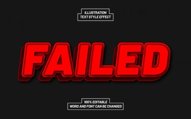Efeito de estilo de texto vermelho com falha