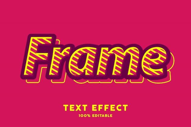 Efeito de estilo de texto vermelho pop art