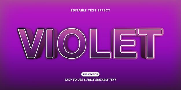 Efeito de estilo de texto violeta moderno