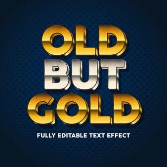 Efeito de estilo de tipografia de texto em negrito e ouro