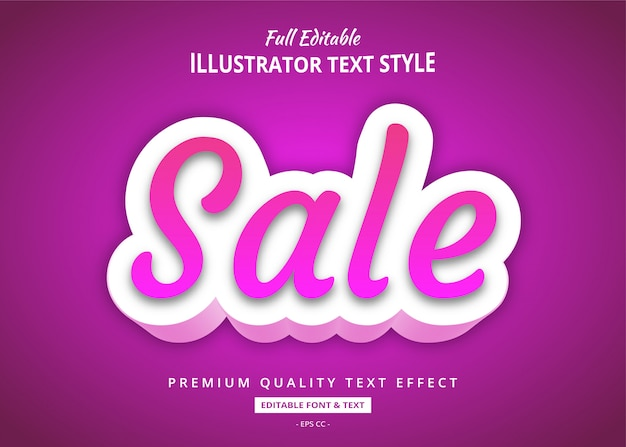 Efeito de estilo elegante texto gradiente de venda