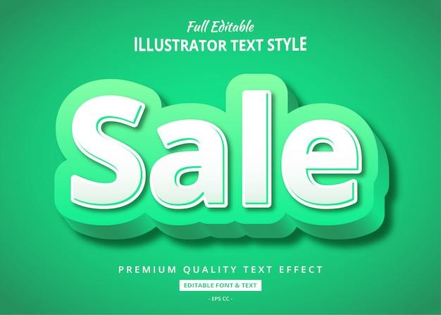 Efeito de estilo elegante texto verde venda