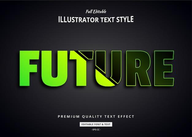 Efeito de estilo futurista de texto 3d