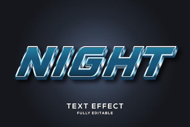 Efeito de estilo futurista metálico azul escuro texto 3d
