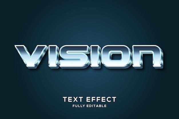 Efeito de estilo futurista metálico texto 3d