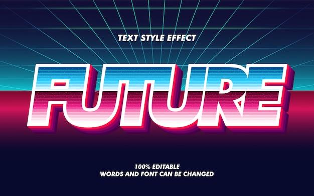 Efeito de estilo futuro texto em negrito gradiente retrô