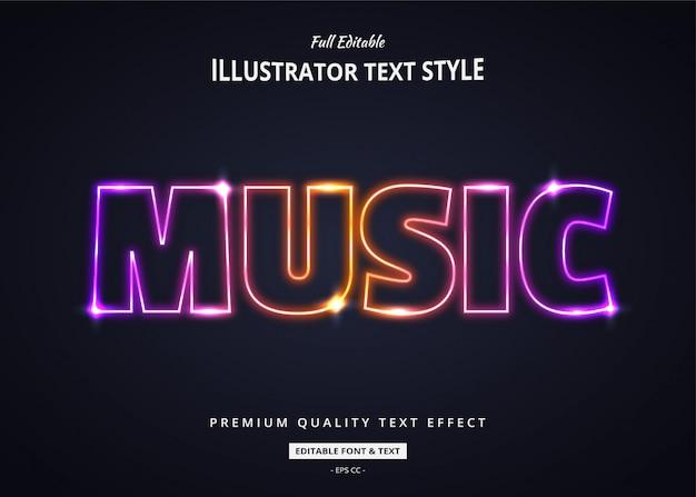Efeito de estilo gradiente de texto em néon 3d