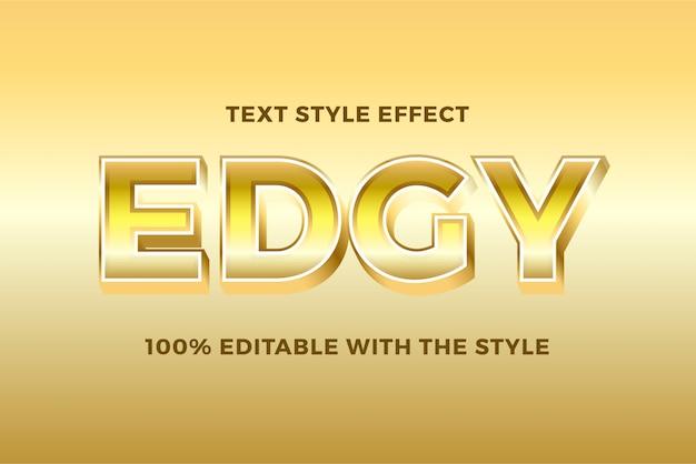 Efeito de estilo moderno texto em negrito gradiente 3d ouro