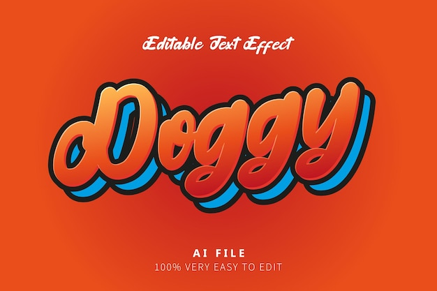 Efeito de estilo red laranja doggy tex
