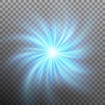 Efeito de estrela com clarão com transparência. fundo transparente apenas em