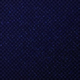 Efeito de estrelas de brilho realista de brilho azul no fundo transparente. luz brilhante realista para decoração.