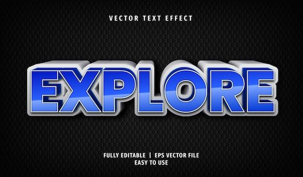 Efeito de exploração de texto 3d, estilo de texto editável