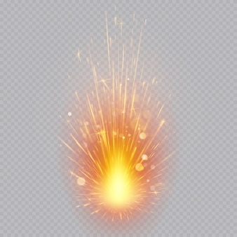 Efeito de fogos de artifício. faíscas voadoras. movimento mágico.