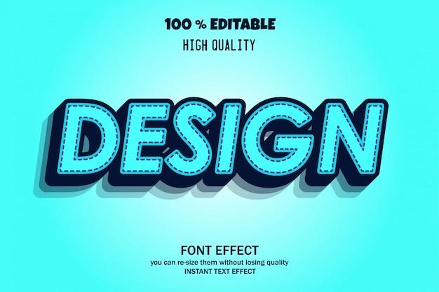 Efeito de fonte 3d com estilo moderno