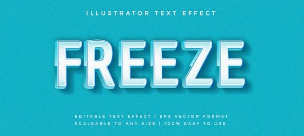 Efeito de fonte azul estilo de texto moderno congelar