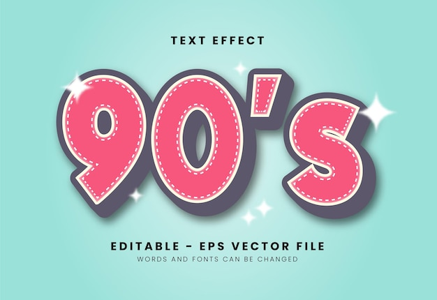 Efeito de fonte clássico dos anos 90