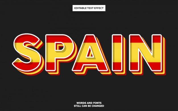 Efeito de fonte de cor de bandeira de espanha