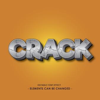 Efeito de fonte de desenhos animados de crack para o título do jogo