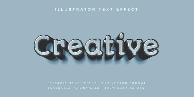 Efeito de fonte de estilo casual de texto criativo