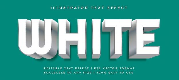 Efeito de fonte de estilo de texto azul arredondado em prata branco