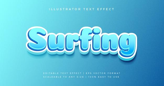 Efeito de fonte de estilo de texto azul brincalhão dos desenhos animados