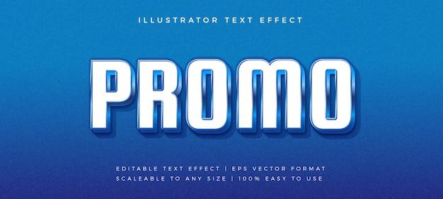Efeito de fonte de estilo de texto brilhante azul promoção