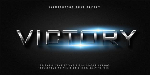 Efeito de fonte de estilo de texto brilhante para jogos escuros