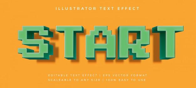 Efeito de fonte de estilo de texto brincalhão pixelizada