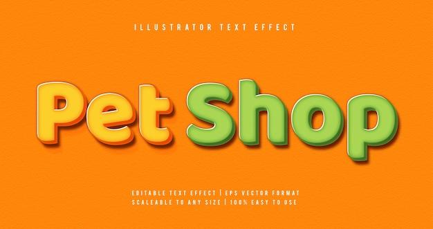 Efeito de fonte de estilo de texto cômico colorido fofo