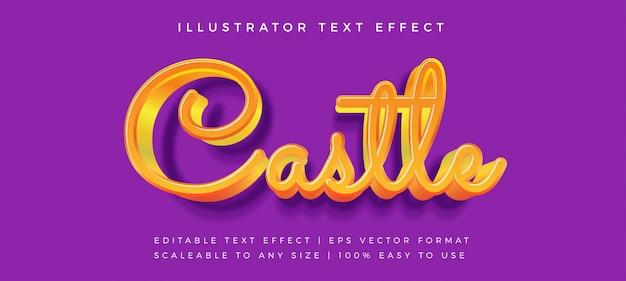 Efeito de fonte de estilo de texto de conto de fadas 3d