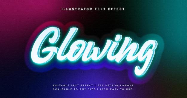 Efeito de fonte de estilo de texto de luz vibrante brilhante