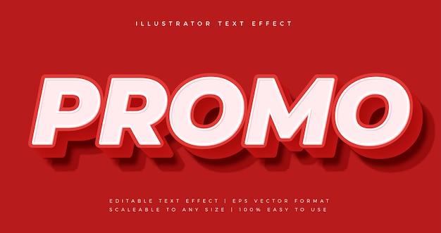 Efeito de fonte de estilo de texto de promoção vermelha