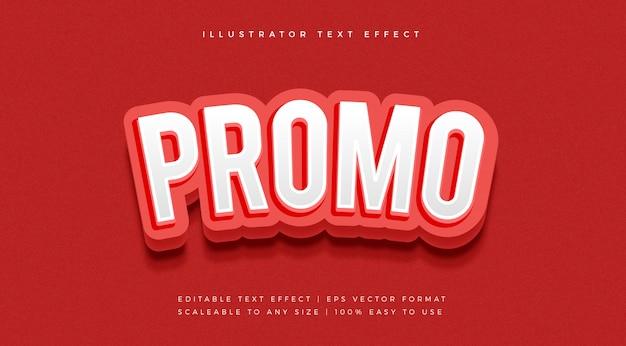 Efeito de fonte de estilo de texto de promoção vermelho