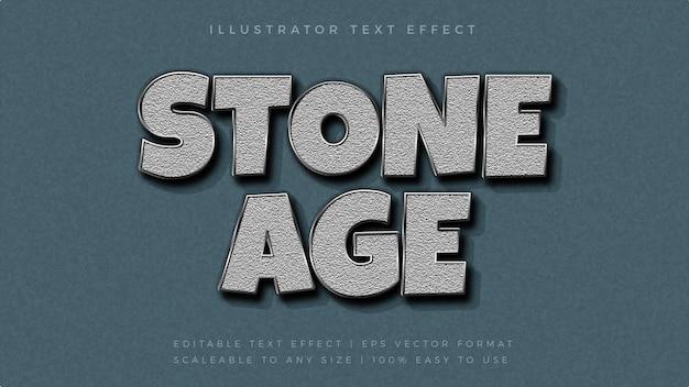 Efeito de fonte de estilo de texto de textura de pedra prata