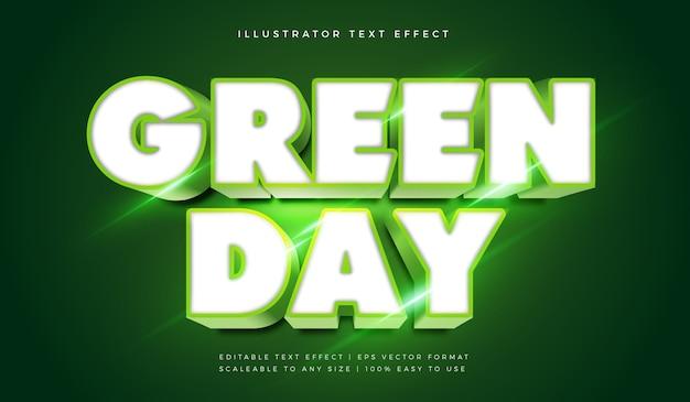 Efeito de fonte de estilo de texto de título brilhante verde